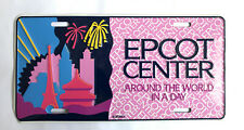 More details for vintage disney epcot center around the world in a day number plate metal