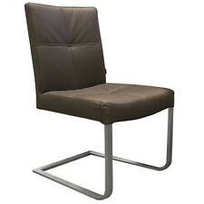 SIX Freischwinger Lederstuhl Typ 081 braun Rindsleder Stuhl Leder-Stuhl Neu