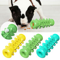 Pet Dog Chew Toys Toothbrush Durable Rubber Puppy Teeth Cleaning Food Dispenser