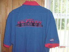 Vintage Tommy Hilfiger Cycling Gear Polo Logo Shirt 90s Hip Hop Hat Texas Estate