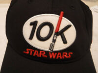 Lot of 2 Run Disney Parks Star Wars 10K Marathon Light Saber Baseball Hat ~ NWT