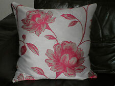 "18"" PINK FLORAL CUSHION COVER MADE WITH DUNELM FABRIC"