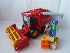 LEGO Duplo Mähdrescher - Bauernhof - Bauer - Mistgabel - Steine - Set 4973