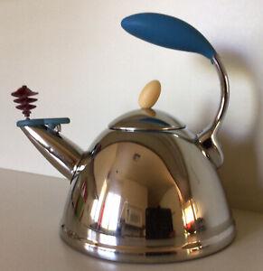 "Michael Graves ~ ""Spinning Whistle"" Tea Kettle ~ Stainless Steel ~ 1.7 Qt."
