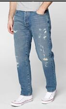Next - Mens Light Blue Slim Tapered Ripped & Repaired Jeans - Size 32R - BNWT