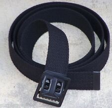 "NEW BLACK CANVAS WEB MILITARY ARMY BELT BLACK BUCKLE MARINE USMC BDU 54"" w P38"