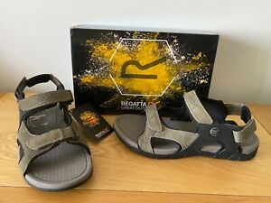 Regatta Rafta classic tleather suede reetop/black  sandals, Uk size 9,EUR 43
