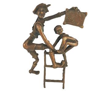 Bronze Clown von Brigitte van den Houdt für Cliniclowns DaVinci Art and Craft