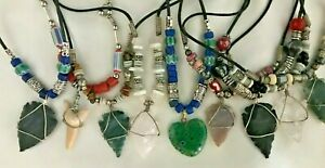 ARROWHEAD Cord Necklace - HEART or SHARK's TOOTH Pendants too ! All COLORS! NEW!