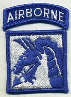 Vietnam Era US Army 18th Corps Airborne Color Patch W/Tab
