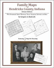 Family Maps Hendricks County Indiana Genealogy IN Plat