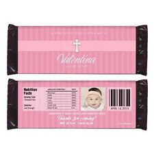 12 Baptism Christening First Communion Party Favors Personalized Candy Wrappers