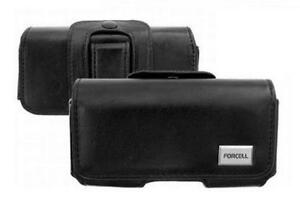 Custodia Universale ( Pelle Nero Orizzontale B) ~ Motorola Dext / Dext MB220