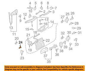 AUDI OEM 09-18 Q5 Front Door-Striker Screw N91017402