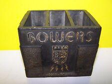 RARE Bowers MODERN POWER Batteries FLEETWOOD PA DESKTOP PENCIL HOLDER ? DEKA