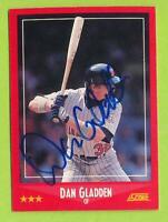 1988 Score In Person Auto - Dan Gladden (#324)   Minnesota Twins
