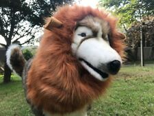 Halloween Costume Dog's Lion Mane Wig-Brown and Black