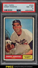 1961 Topps Sandy Koufax #344 PSA 8 NM-MT (PWCC)