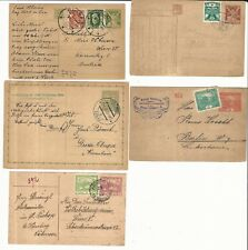 Czechoslovakia: Lot of different postal stationery of classic stamps. CZ13