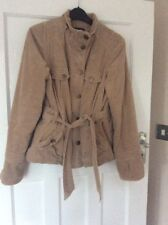 Ladies Size 10 Principles Beige Corduroy Jacket