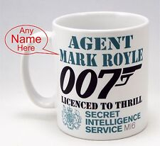 James Bond 007 Spectre, Funny Personalised Birthday Mug, Gift Christmas Idea,