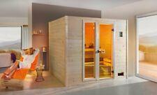 WEKA Sparset Massivholzsauna VALIDA Plus Fichte mit Ofen 9kW Saunakabine Sauna
