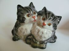 Beswick Kittens Figurine Persian Grey Stripe Porcelain Glossy 1316 England Vtg