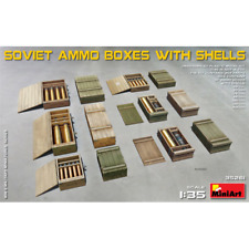SOVIET AMMO BOXES WITH SHELLS KIT 1:35