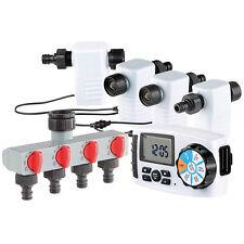 Gartenbewässerung: Bewässerungscomputer BWC-400 mit 4 Schlauch-Anschlüssen