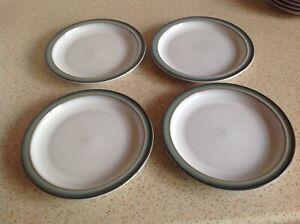 4  Denby Regency green plates