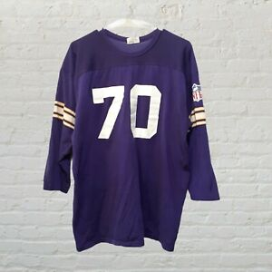 Vintage NFL Vikings Mens Jersey Shirt, Purple Rawlings Tag Size XL