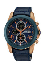 Seiko Le Grand Sport in Rose/Blue Chronograph Men's Watch - SSC396P