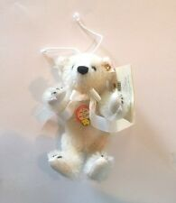 "STEIFF""MINI MR VANILLA CHRISTMAS ORNAMENT"" EAN 651915 MOHAIR 6 1/2"" LIM EDITION"