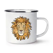 Lion Façade Rétro Émail Tasse - Drôle Animal Camping