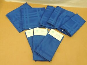 "MARTHA STEWART COLLECTION, SET OF 12 NAPKINS, 19"" X 19"", BLUE"