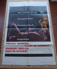Lady in Cement Movie Poster, Original, Folded, One Sheet, 1968, Frank Sinatra