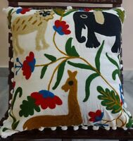 Hand Applique Work Cushion Cover Set Of 5 Pillow Cover