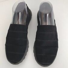 Skechers Go Walk Sz 9.5W Black Cotton Canvas Comfort Slip On Shoes