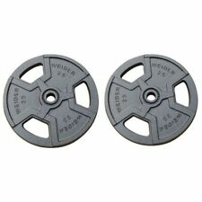 "Weider Pair 25 Lb 1"" Standard Weight Plates, Barbell Plate, 50 lbs Total Weight"