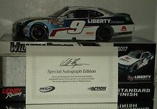2017 William Byron #9 Liberty University Autographed Rookie 1/24 Car#568 Of 909