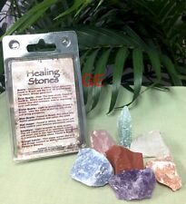 7 Healing Stone Gift Set Rough Mineral Specimen Reiki Chakra Crystal Therapy.