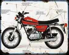 Benelli 125 Tc 72 A4 Metal Sign Motorbike Vintage Aged