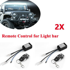 12v Wireless Remote Control Light Switch LED Work Driving Fog Lamp Off Road 4WD