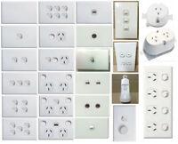 Standard Wall Light Switch Plate White Way Mechanism Mech GPO Outlet Socket Plug