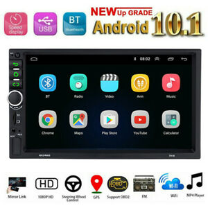 Android 10 Double 2 DIN Car Radio FM AUX USB Stereo GPS Wifi Bluetooth Head Unit