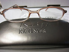CARAVAGGIO EYEGLASS FRAMES Style GUMMY WORM in  BROWN Sz. 46-16-130  W/ CASE