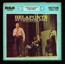 REEL TO REEL TAPE 3 3/4ips RARE - HARRY BELAFONTE - AT CARNEGIE HALL - OOP