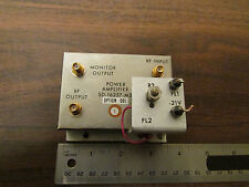 Power Amplifier SD-16257-M3 Option 001 RF Microwave SMA