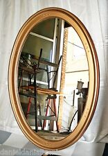 Espejo Ovalado de pared - Marco de Madera