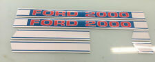 Ford 2000 tractor hood decals